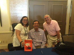 Deb, John, and Tom at the Decatur Book festival, September, 2015