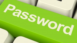 Password Computer Key In Green Showing Permission And Security